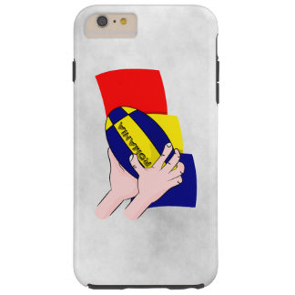 Romanian Flag Romania Rugby Supporters Tough iPhone 6 Plus Case