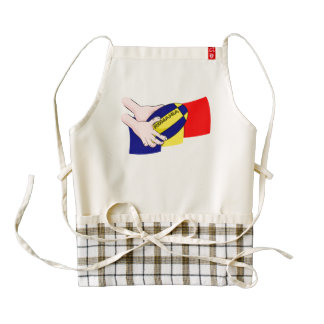 Romanian Flag Romania Rugby Supporters Zazzle HEART Apron