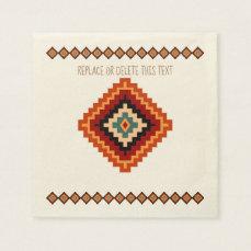Romanian Folk Art - Ethnic Motifs Paper Napkin