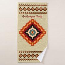 Romanian Folk Art - Ethnic Patterns Bath Towel Set