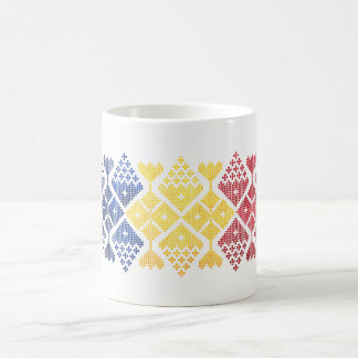 ROMANIAN FOLK ART ~ Grape Vines Design Mug