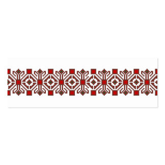 romanian folk costume stitch geometric floral art Double-Sided mini business cards (Pack of 20)