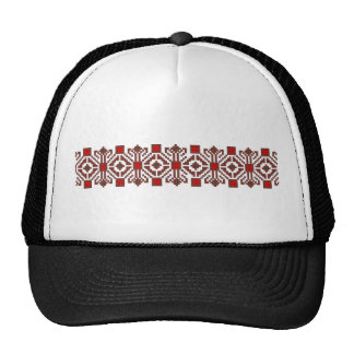 romanian folk costume stitch geometric floral art trucker hat