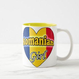 Romanian Girl Two-Tone Coffee Mug