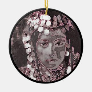 Romanian Gypsy Champagne Colors Ceramic Ornament
