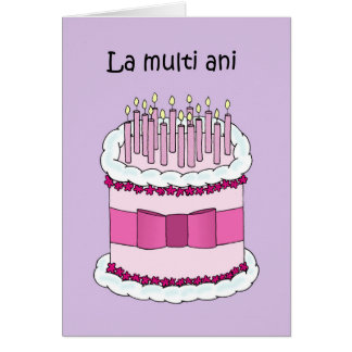 Romanian happy birthday card