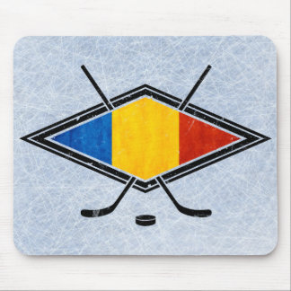 Romanian Ice Hockey Flag Mouse Pad