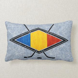 Romanian Ice Hockey Flag Pillow