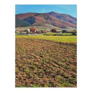 Romanian landscape 6.5x8.75 paper invitation card