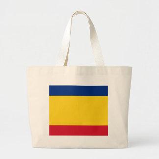Romanian pride large tote bag