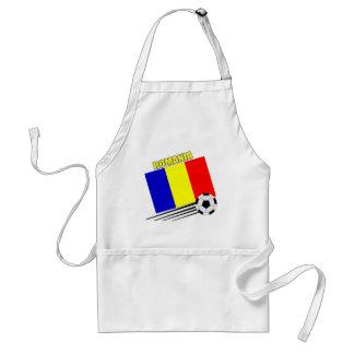 Romanian Soccer Team Adult Apron
