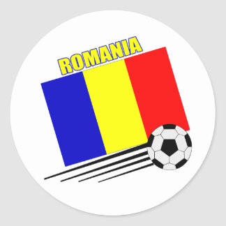 Romanian Soccer Team Classic Round Sticker