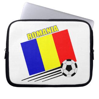 Romanian Soccer Team Computer Sleeve