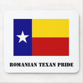 Romanian Texan Pride White Mousepad