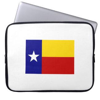 Romanian-Texas Flag 15'' Laptop Sleeve