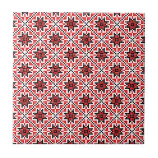 romanian traditional ethnic costume motif seamless tile