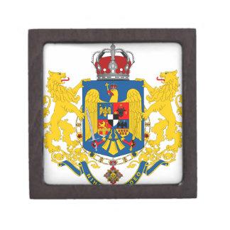 ROMANIAN VINTAGE COAT OF ARMS PREMIUM KEEPSAKE BOXES