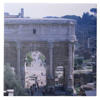 Romano 4 de Foro Azulejo Cuadrado Grande