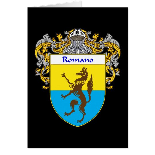 Romano Coat of Arms (Mantled) Card