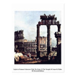 Romano Colosseum del capricho de Bernardo Bellotto Tarjeta Postal