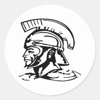 Romano espartano del centurión pegatina redonda