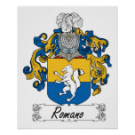 Romano Family Crest Poster