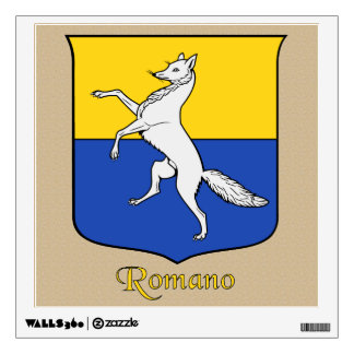 Romano Historical Shield on Parchement Style Wall Decal