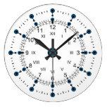 Romano moderno de las horas de los minutos reloj