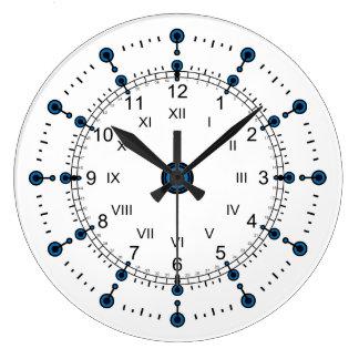 Romano moderno de las horas de los minutos reloj redondo grande