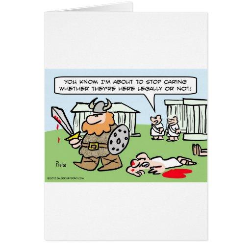 Romano no cuida si los bárbaros son legales o no tarjeta de felicitación
