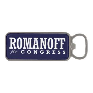 ROMANOFF FOR CONGRESS 2014 MAGNETIC BOTTLE OPENER