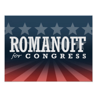 ROMANOFF FOR CONGRESS 2014 POSTERS