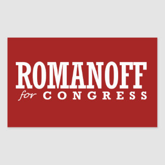 ROMANOFF FOR CONGRESS 2014 RECTANGLE STICKERS