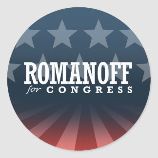 ROMANOFF FOR CONGRESS 2014 STICKERS