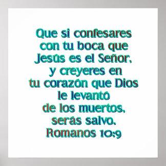 Romanos 10:9 poster