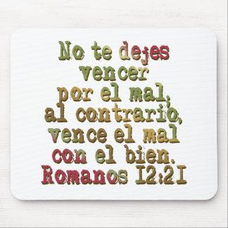 Romanos 12:21 mouse pad
