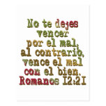 Romanos 12:21 postcard