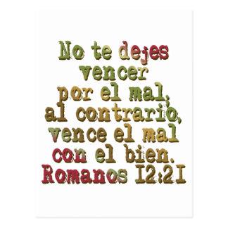 Romanos 12:21 postcards