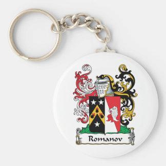 Romanov Family Crest Basic Round Button Keychain