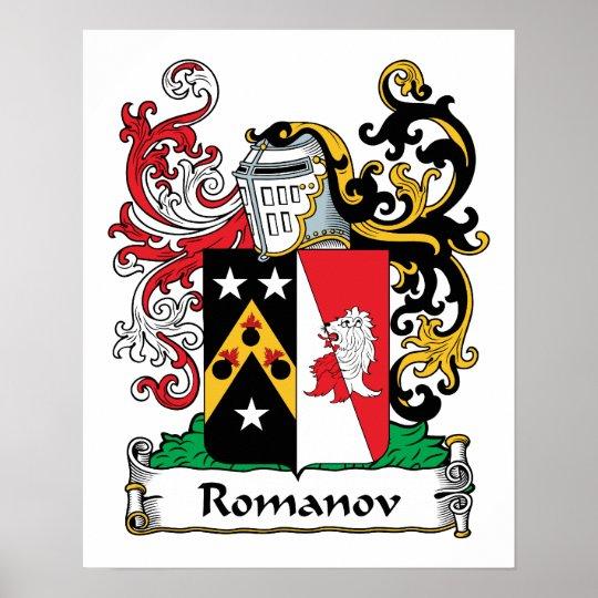 Romanov Family Crest Poster