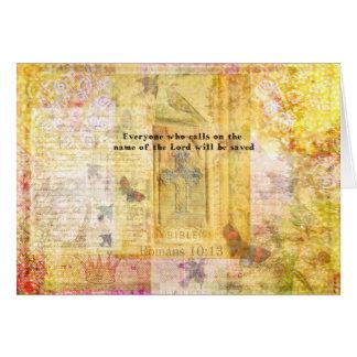 Romans 10:13 Inspirational Bible Verse art Card