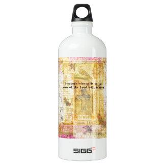 Romans 10:13 Inspirational Bible Verse art SIGG Traveler 1.0L Water Bottle
