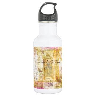 Romans 10:13 Inspirational Bible Verse art Water Bottle