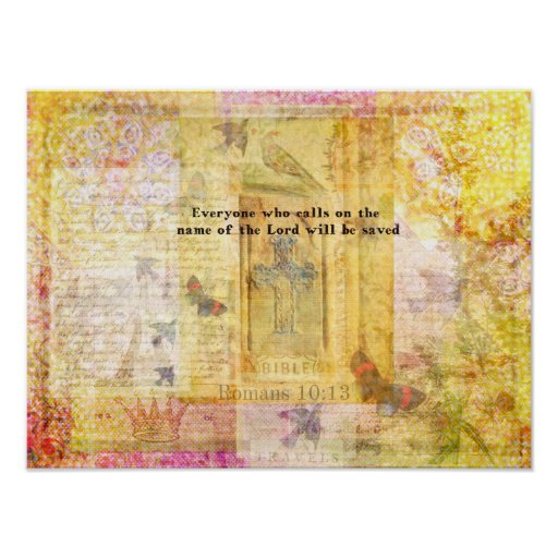 Romans 10:13  Italian Renaissance Cross art Print