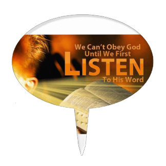 Romans 10:17 cake toppers