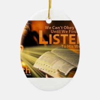 Romans 10:17 ceramic ornament