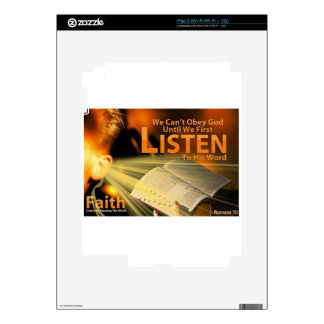 Romans 10:17 decal for the iPad 2