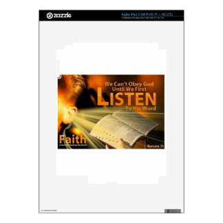 Romans 10:17 decal for iPad 3