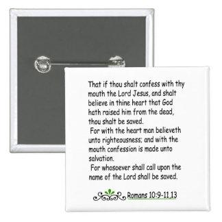Romans 10: 9-11,13 button