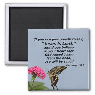 Romans 10:9 (2) magnet